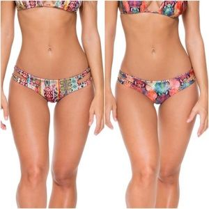 Luli Fama My Way Zig Zag Reversible Bikini Bottoms